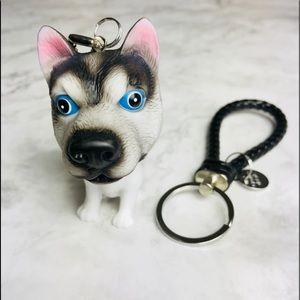 New! Alaskan Malamute Keychain Bag Charm Keyfob